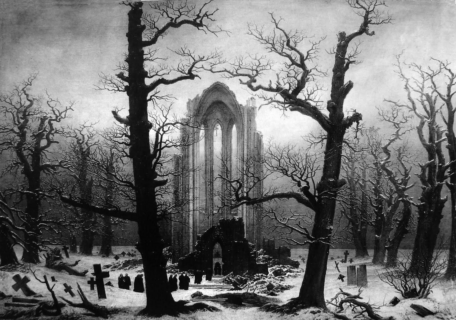 Jcdqsiq Monastery Graveyard The Snow Caspar