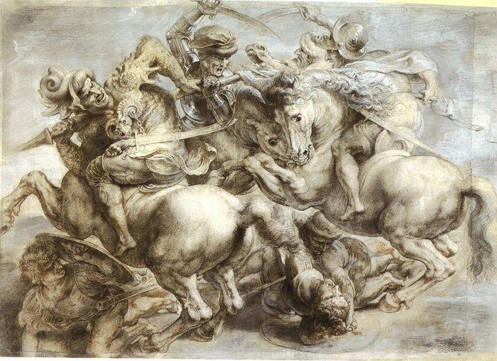 5. Peter Paul Rubens copy of the lost Battle of Anghiari