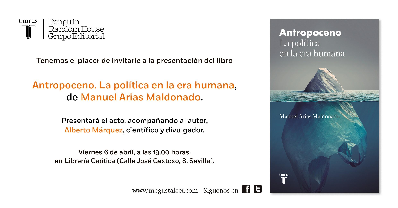 Invitación Antropoceno Sevilla