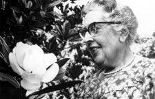 Agatha Christie (1890-1976) British mystery writer in Sept, 1959.