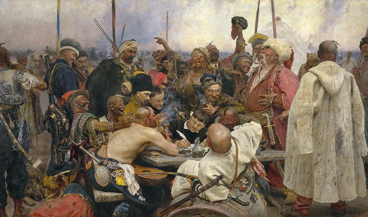 1200px Ilja Jefimowitsch Repin Reply of the Zaporozhian Cossacks Yorck