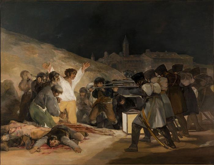 1280px El Tres de Mayo by Francisco de Goya from Prado thin black margin