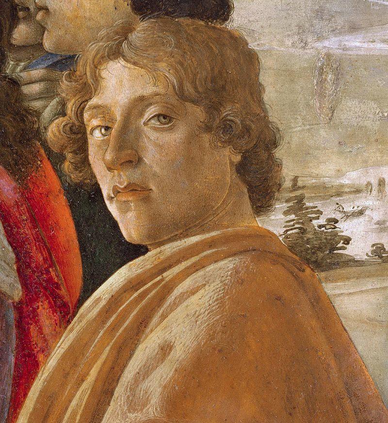 4.Autorretrato de Botticelli en La Adoración de los Reyes Magos