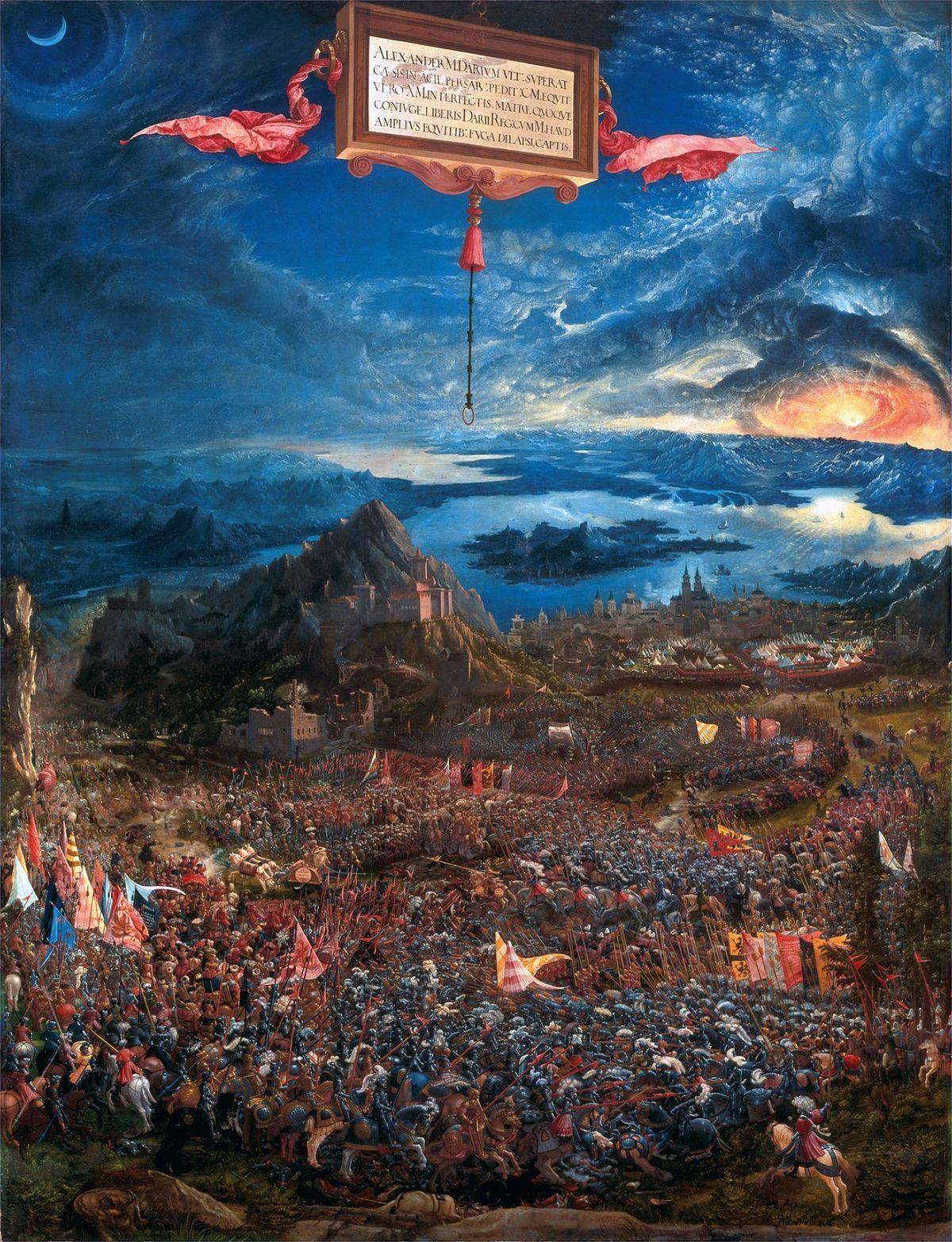 Albrecht Altdorfer Schlacht bei Issus Alte Pinakothek München