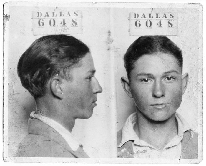 Clyde Champion Barrow Mug Shot Dallas 6048