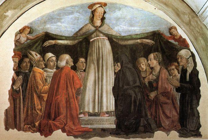 Domenico ghirlandaio madonna della misericordia ognissanti Firenze