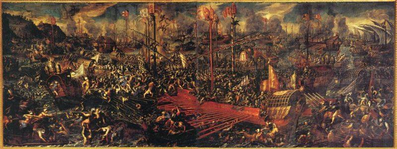 batalha de lepando venecia palazzo ducale sala del collegio batalla de lepanto vincentino 1603 01