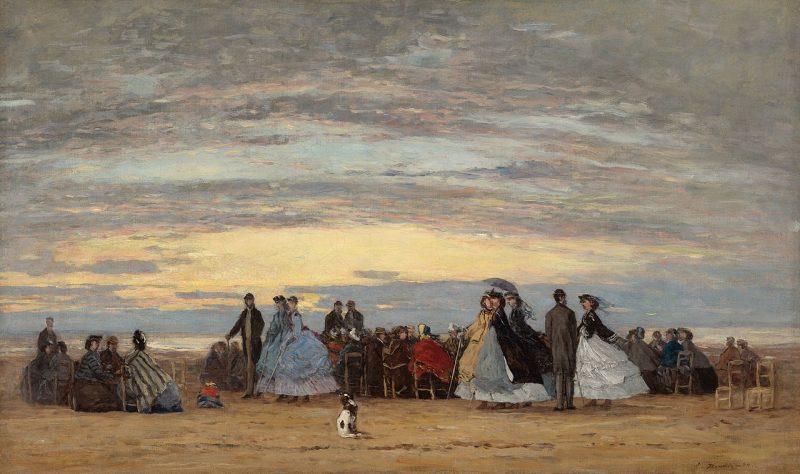 1280px The Beach at Villerville Eugène Boudin 1864