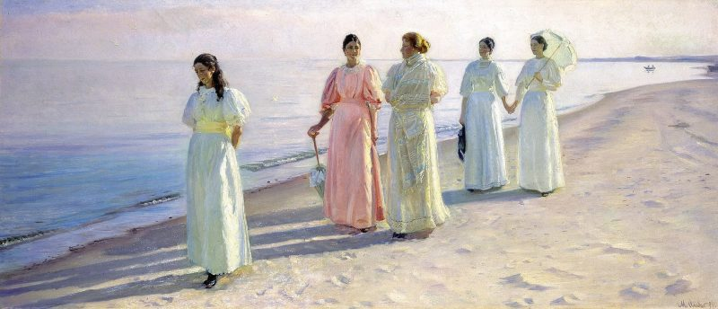 1920px Michael Ancher A stroll on the beach Google Art Project