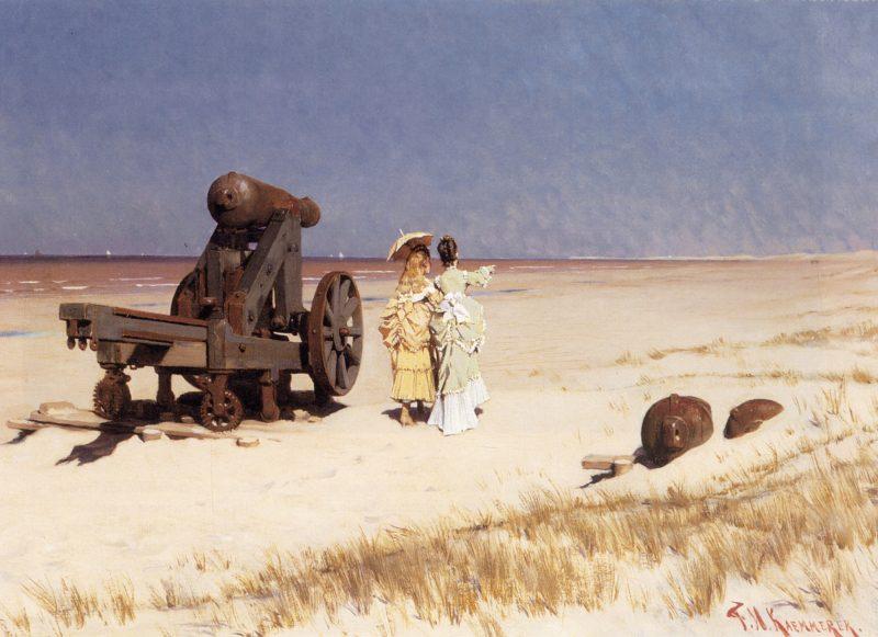 At the Seashore Frederick Hendrik Kaemmerer Oil Painting