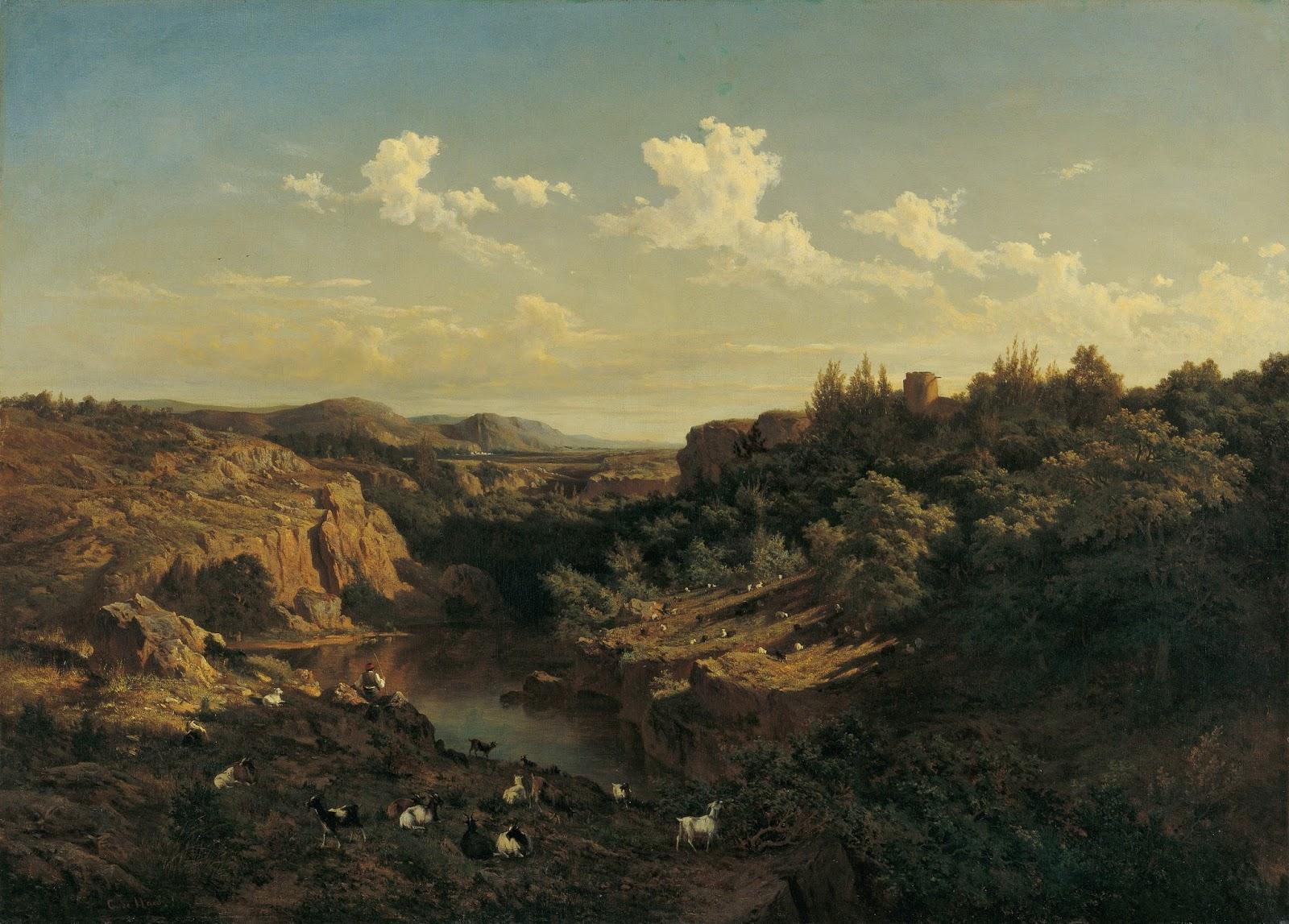 Carlos de Haes View near Monasterio de Piedra