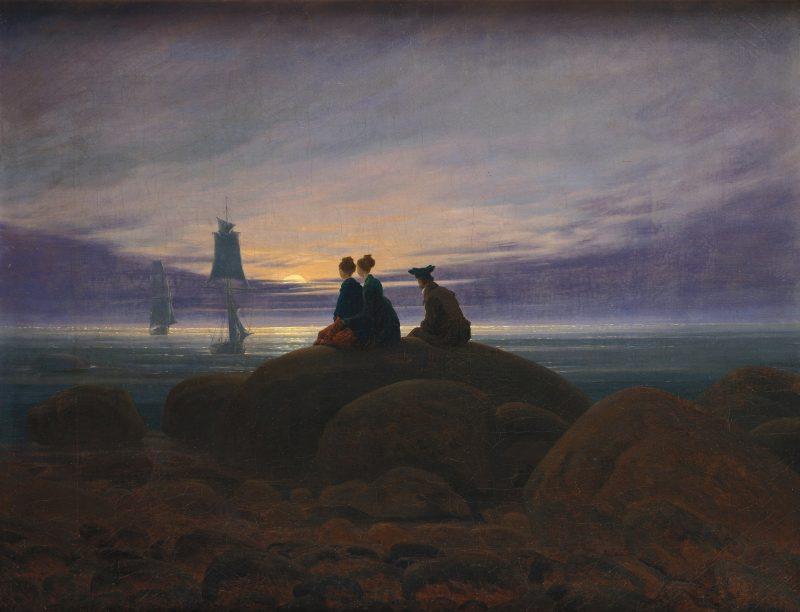 Caspar David Friedrich Mondaufgang am Meer Google Art Project