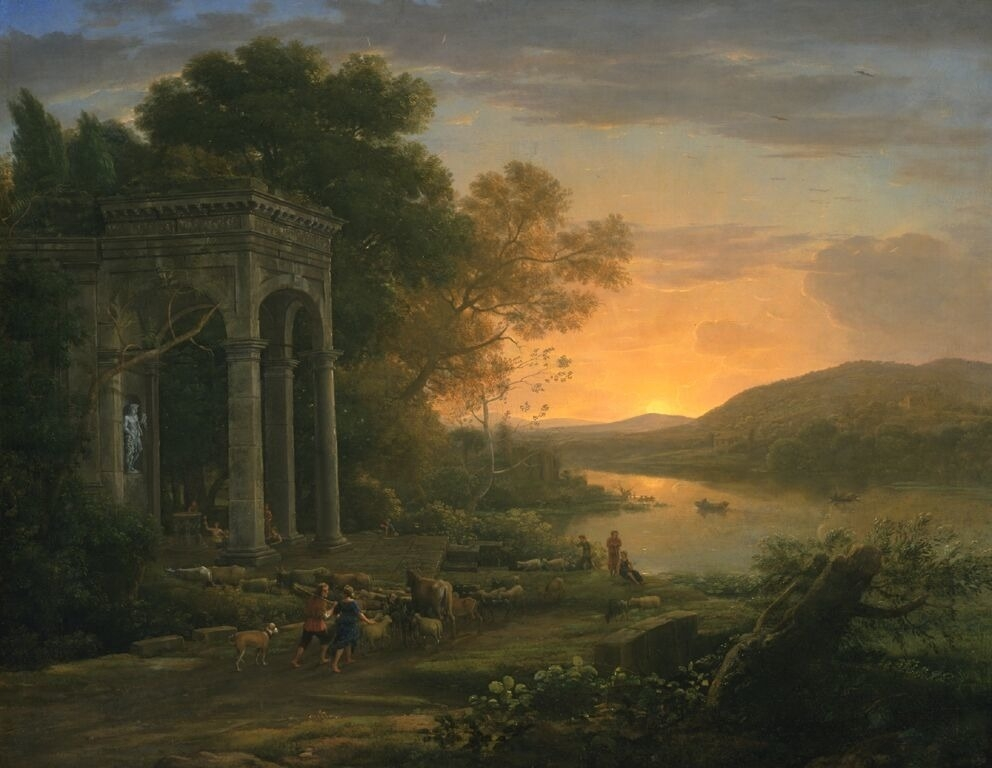 Landscape with a Temple of Bacchus