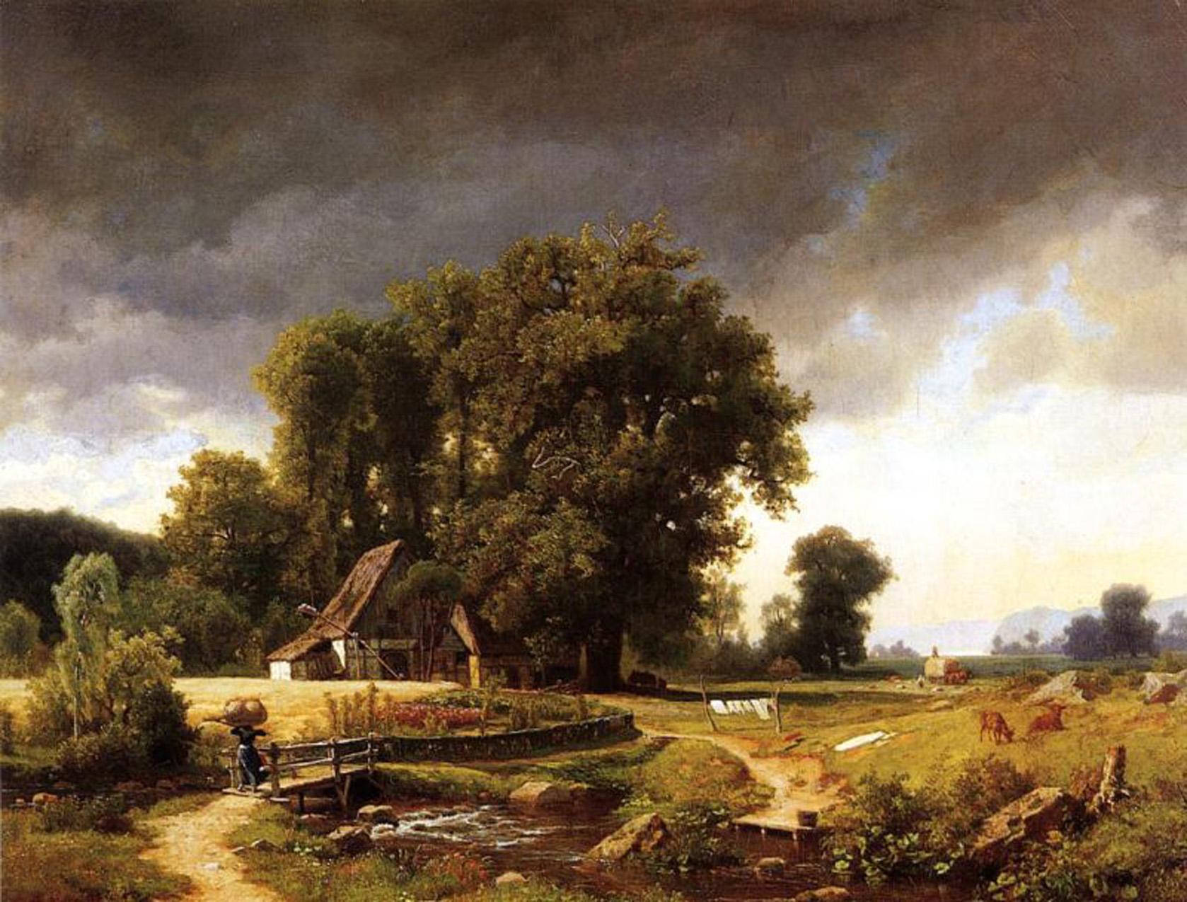 bierstadt westphalian landscape 1855