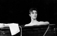 "17th September 1980: British singer and actor, David Bowie in rehearsals for  ""The Elephant Man"" at Booth Theatre, New York, USA."