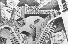 Relativity Lithograph by M.C. Escher - 1953