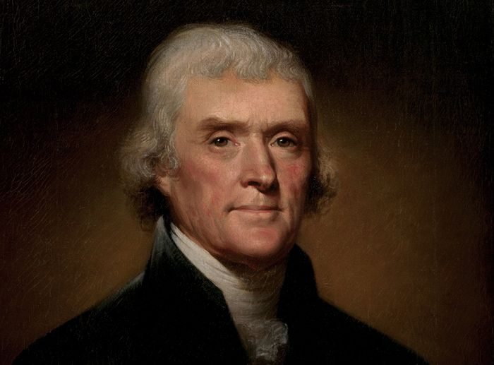 Official Presidential portrait of Thomas Jefferson by Rembrandt Peale 1800 result
