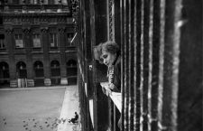 Colette, French writer, at the window of her apartment of the Palais-Royal. Paris, 1941.