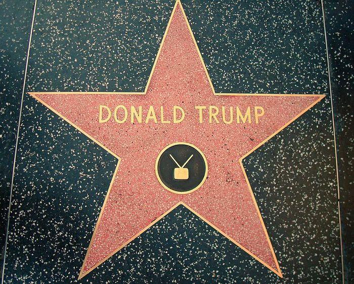 Donald Trump star Hollywood Walk of Fame result