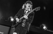 Angus Young of AC/DC performing live on stage at Wembley Stadium on July 04, 2015 in London, United Kingdom