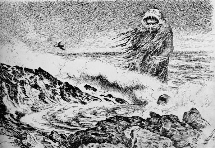 Theodor Kittelsen Sjøtrollet 1887 The Sea Troll result