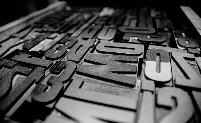 Caratteri mobili stampa tipografica