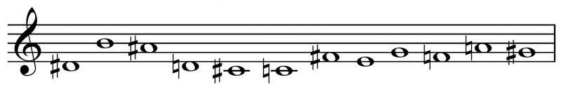 Variations for piano Webern tone row