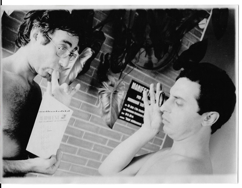 Luis y Ramon con el Manifest del FAG Luis Escribano