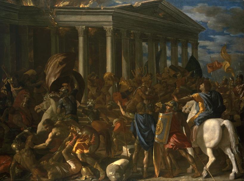La destrucción del Templo de Jerusalén de Nicolas Poussin
