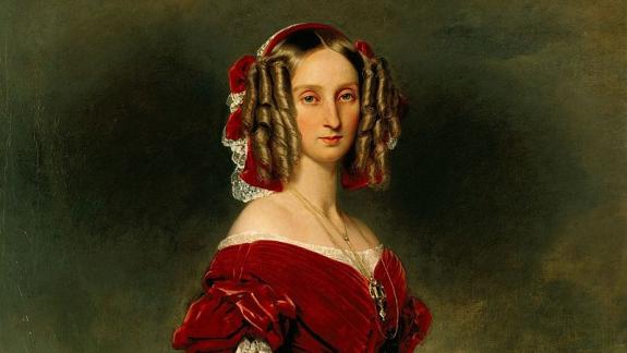 Luisa María de Orleans por Winterhalter.