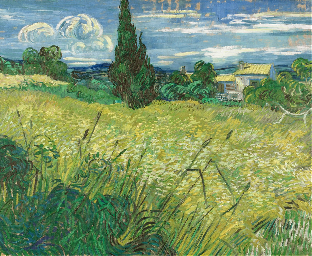 1247px Vincent van Gogh Green Field Google Art Project