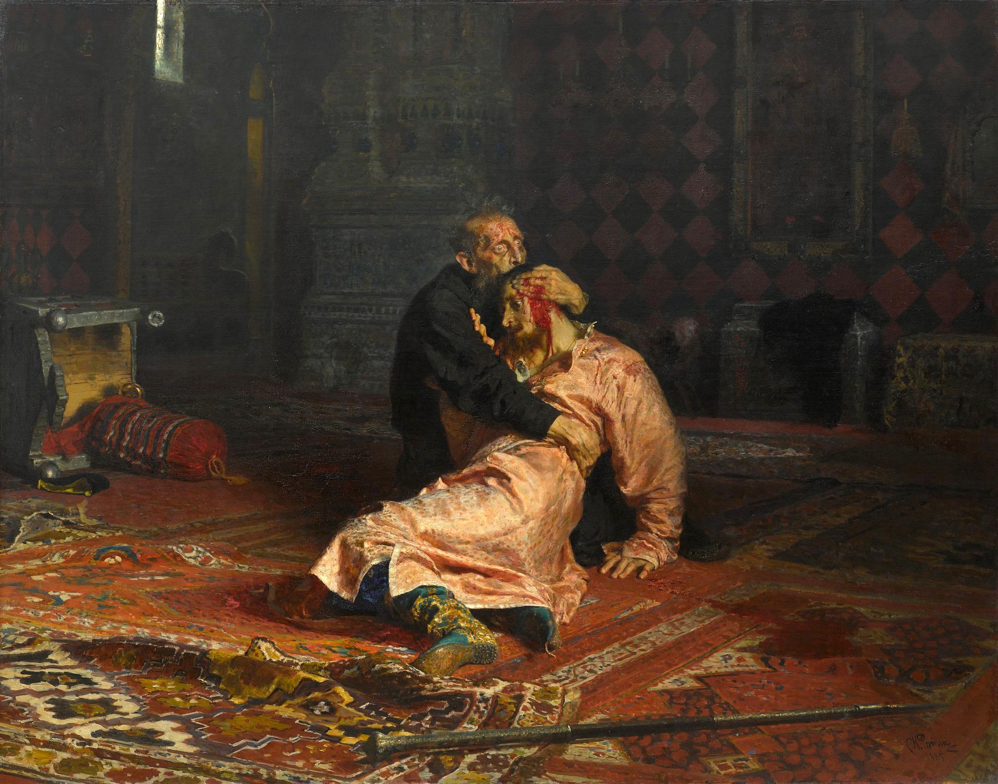 Iván el Terrible y su hijo por Iliá Repin