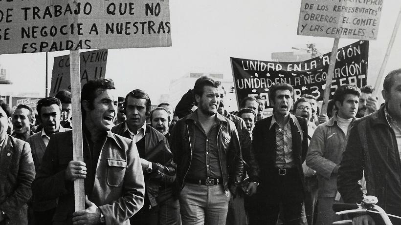 el entusiasmo foto 13 Julián Martín Cuesta Manifestación trabajadores de SEAT 1977