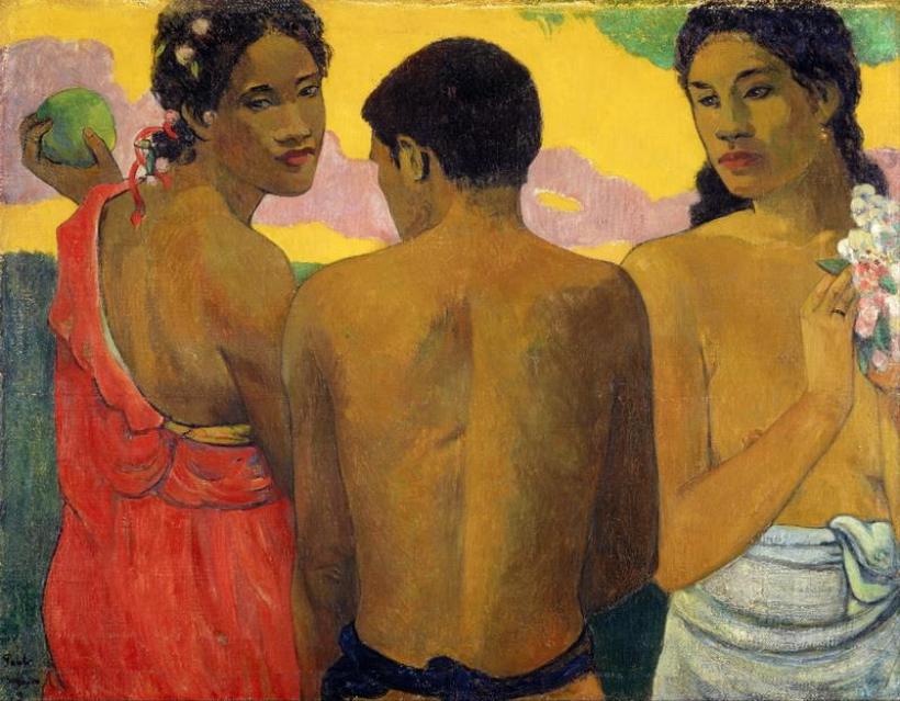 Paul Gauguin Trois Tahitiens