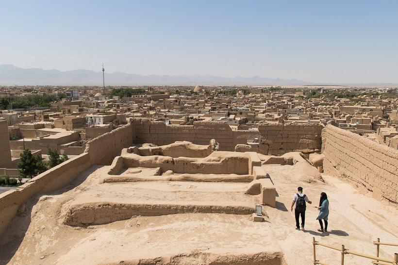 Vista de Meybod cerca de Yazd