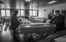 Italy,  Ponte San Pietro (Bergamo)   - March 18, 2020.Coronavirus Covid 19 emergency .The mortuary (morgue) of Ponte San Pietro Hospital in the Province of Bergamo the area where the highest number of infection of COVID19 Coronavirus were recorded (Credit Image: © Cozzoli/Fotogramma/Ropi via ZUMA Press)