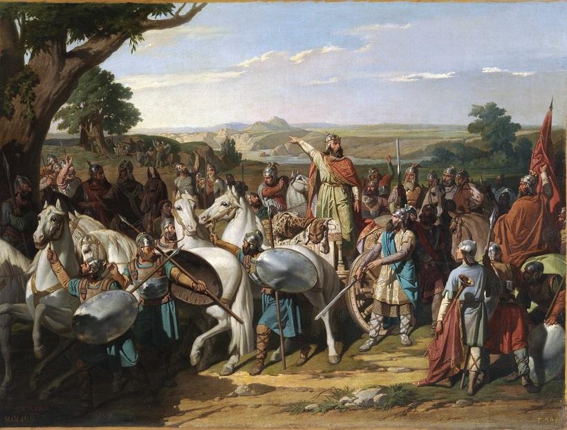 El rey Don Rodrigo arengando a sus tropas en la batalla de Guadalete Museo del Prado