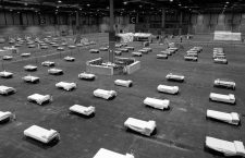 March 24, 2020, Madrid, Spain: Photo taken on March 21, 2020 shows the field hospital set up at the IFEMA Exhibition center in Madrid, Spain. Sunday saw the first patients arrive at the field hospital which has been set up at the IFEMA exhibition center in Madrid by members of the Spanish military's Emergency Response Unit. The field hospital will eventually have space for 5,500 beds and also an intensive care unit. (EFEHandout via Xinhua) (Credit Image: © Xinhua via ZUMA Wire)