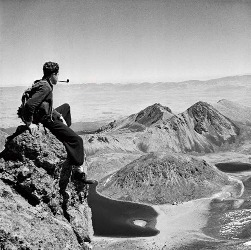 Autorretrato de Juan Rulfo en el Nevado de Toluca 1940