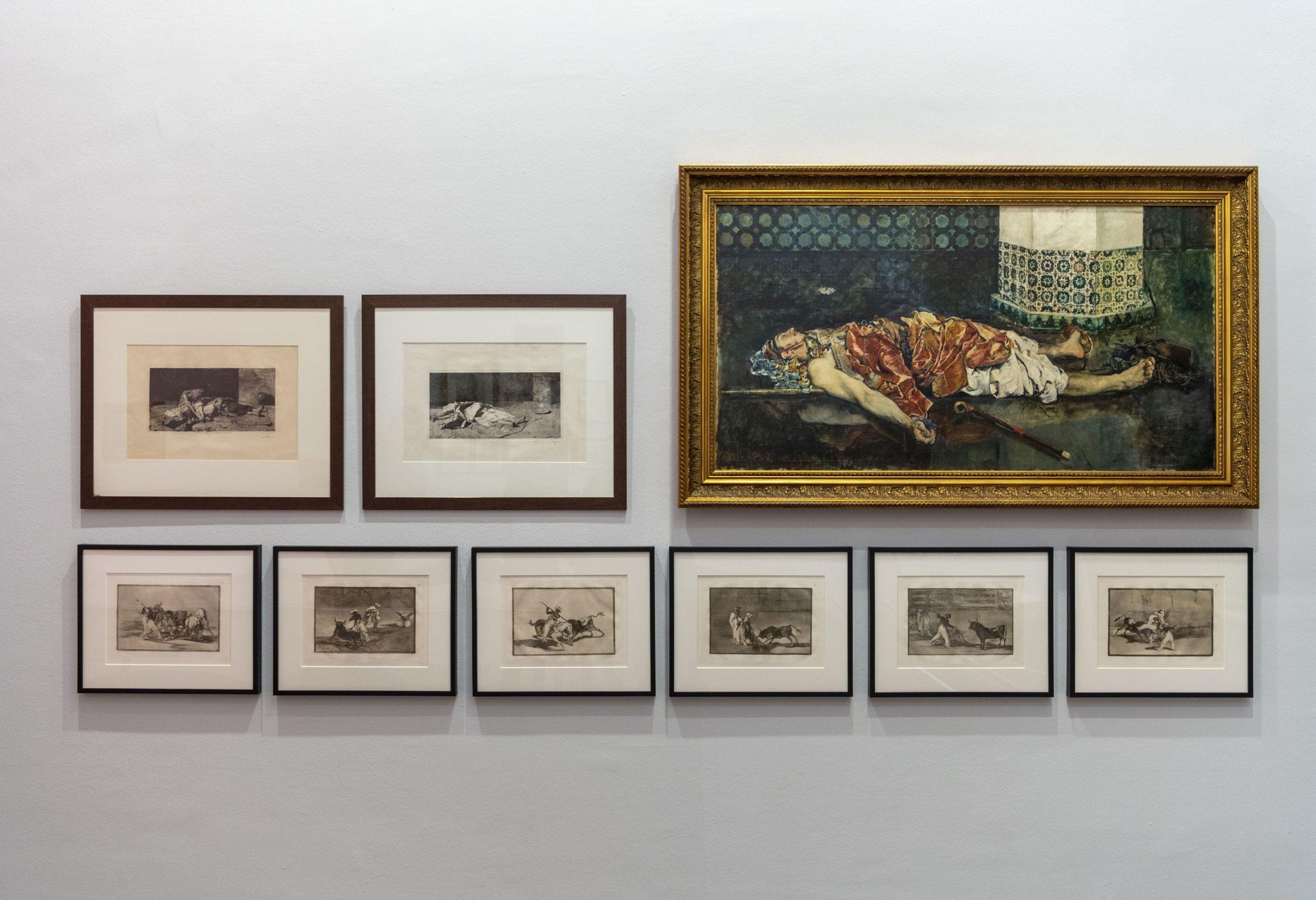 Dos obras de Mariano Fortuny dialogan con seis piezas de la serie Tauromaquia de Goya y una pintura del valenciano Emilio Sala scaled