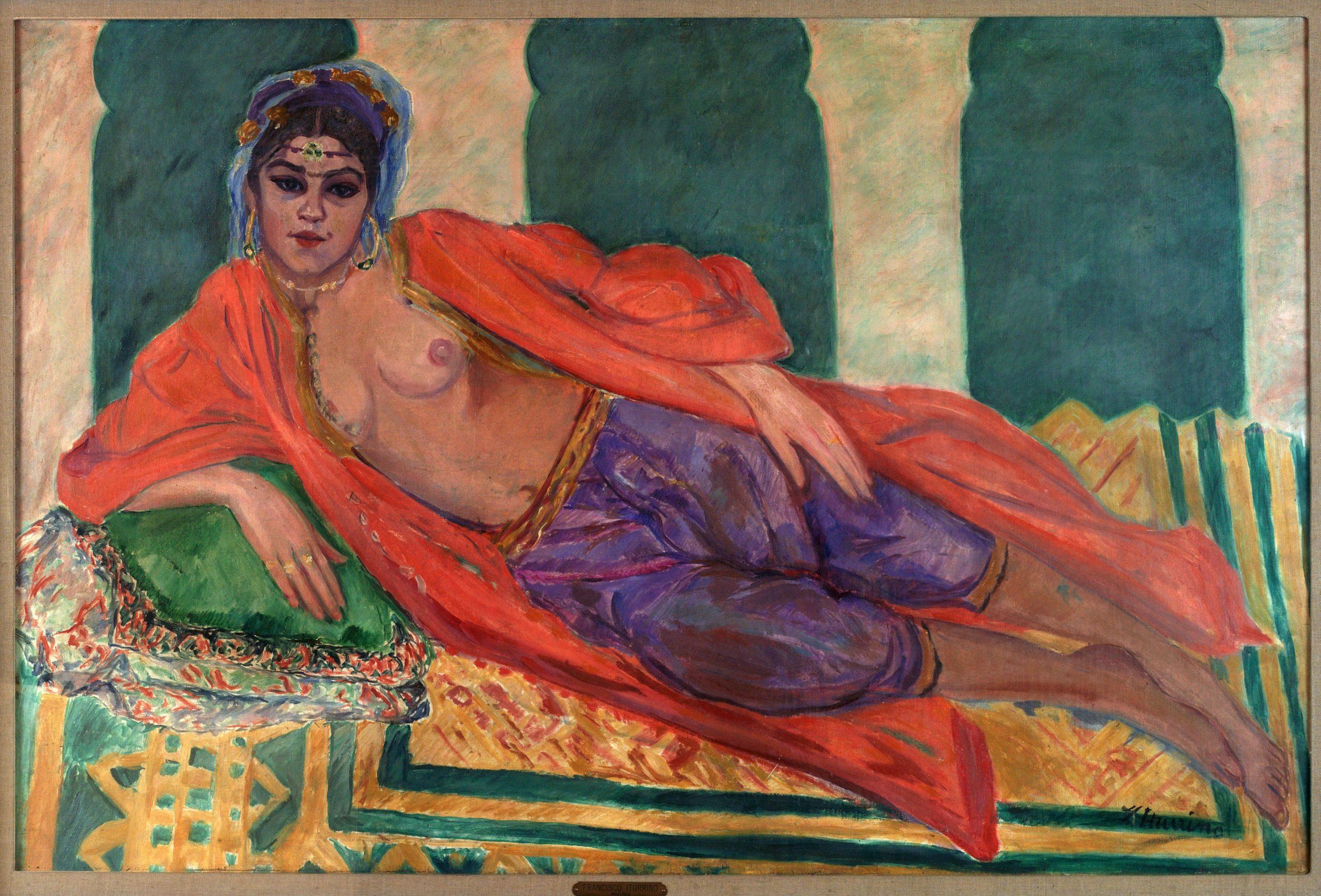 Francisco Iturrino Gonzalez Odalisca 1912 Coleccion Zorilla Lequerica scaled