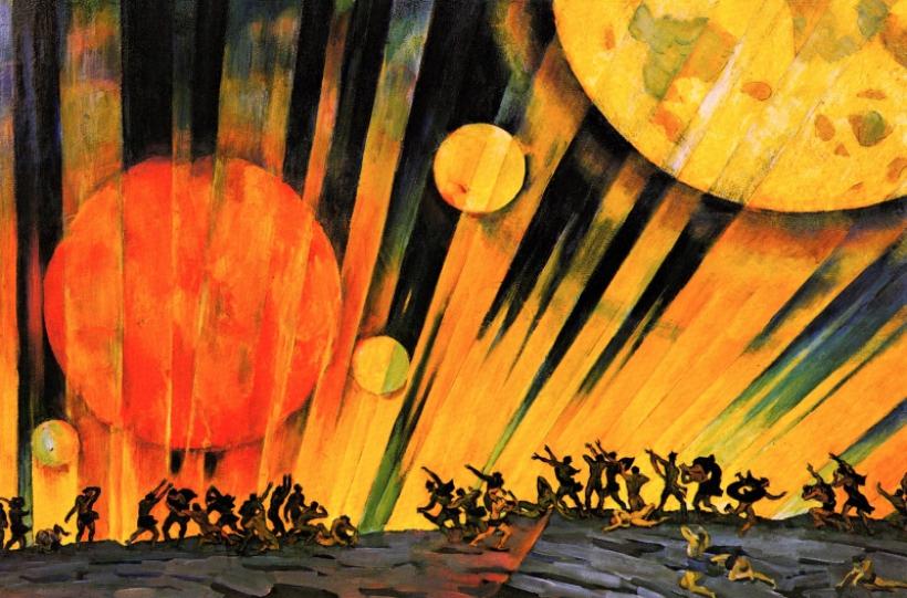 Un nuevo planeta Konstantin Yuon 1921