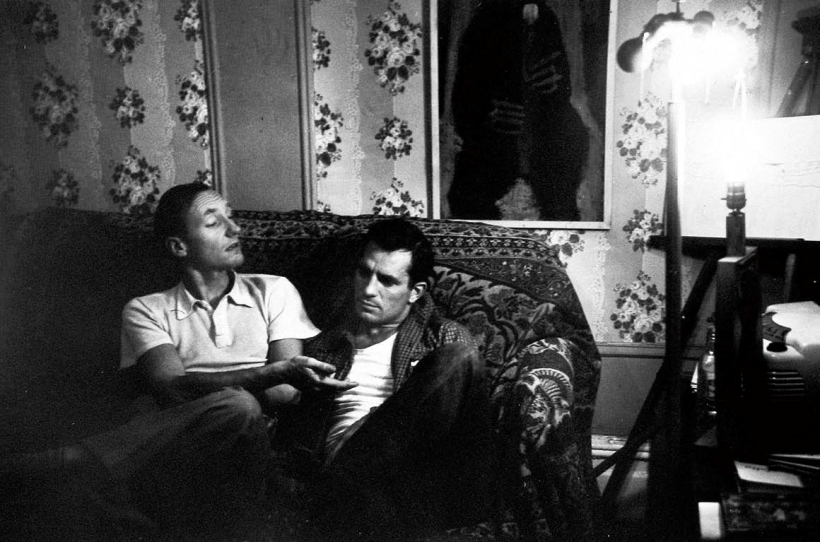 William Burroughs y Jack Kerouac fotografiados por Allen Ginsberg 1953.