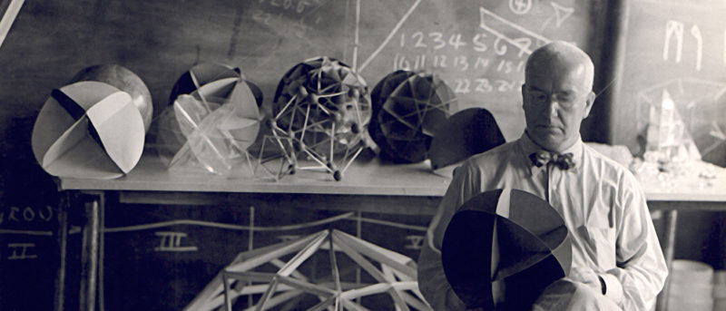 Hazel Larsen Archer Buckminster Fuller at BMC 1948
