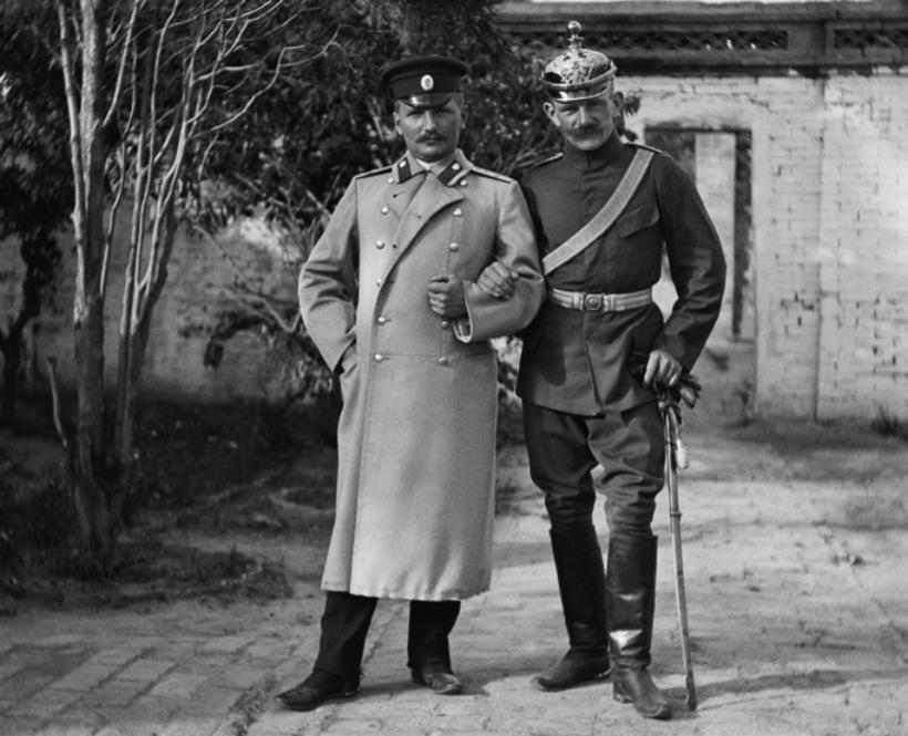 Oficiales alemanes 1901. Fotografía Corbis.