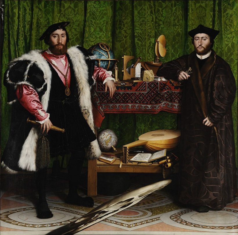 1039px Hans Holbein the Younger The Ambassadors Google Art Project