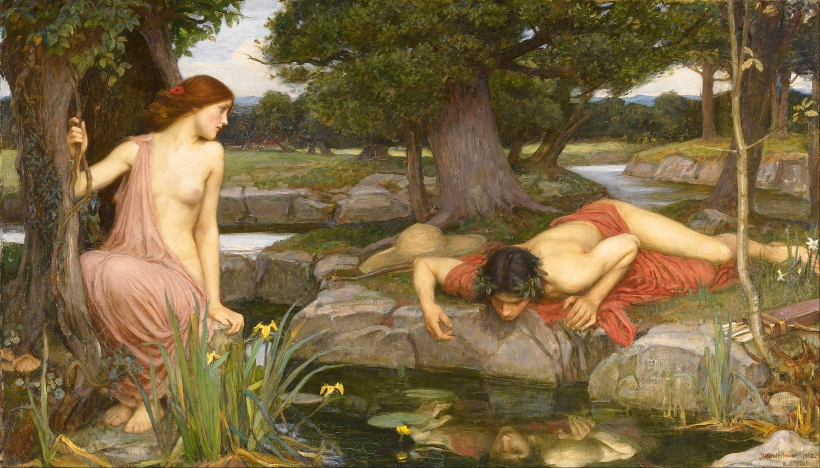 1920px John William Waterhouse Echo and Narcissus Google Art Project