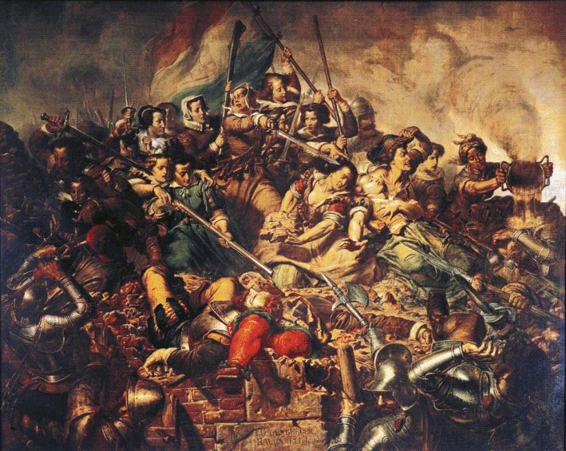 El asedio de Haarlem de Barend Wijnveld y Johannes Hinderikus Egenberger