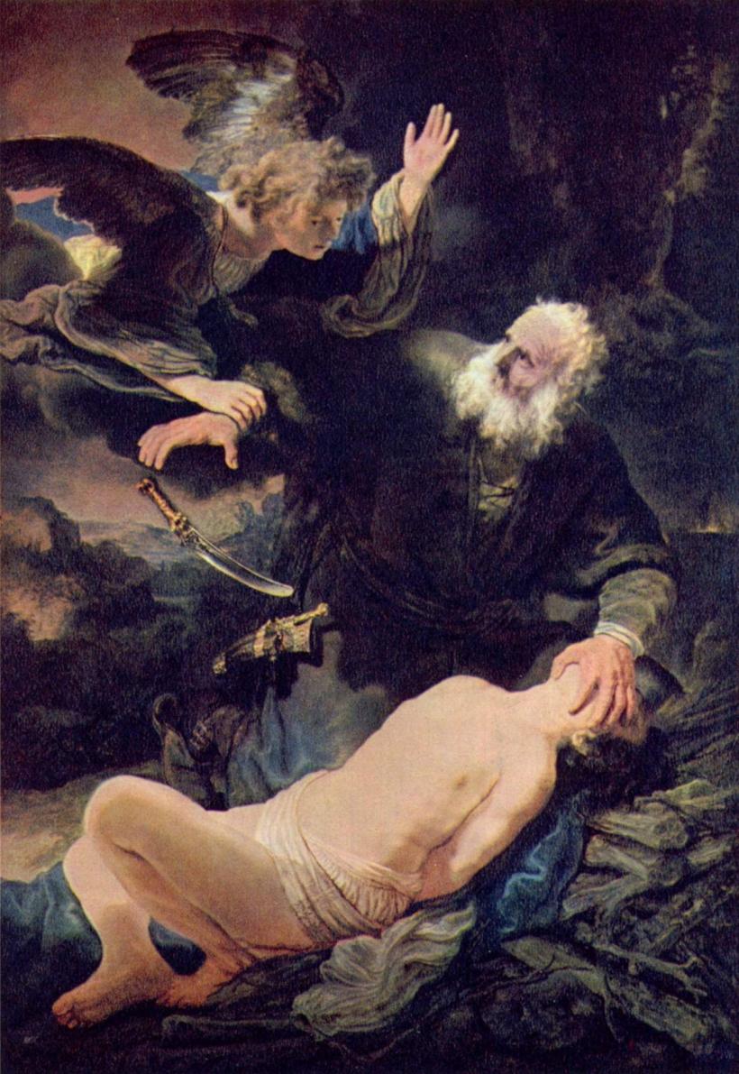 El sacrificio de Isaac. Rembrandt 1636