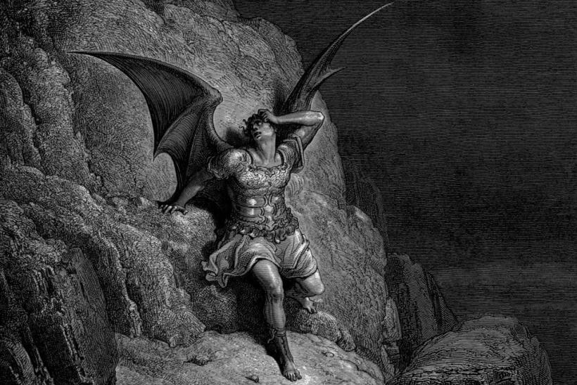 La caída de Satán por Gustave Doré